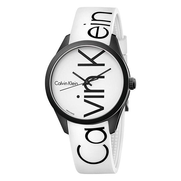 カルバンクライン 時計 メンズ レディース ユニセックス 腕時計 COLOR カラー 40mm ブラックケース ホワイト ラバー K5E51TK2 ビジネス 男女 ブランド 時計 誕生日 お祝い クリスマスプレゼント ギフト お洒落