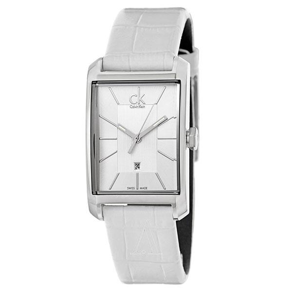 カルバンクライン 時計 レディース 腕時計 26mm シルバー ホワイト レザー K2M23120 ビジネス 女性 ブランド プレゼント 誕生日 お祝い プレゼント ギフト お洒落
