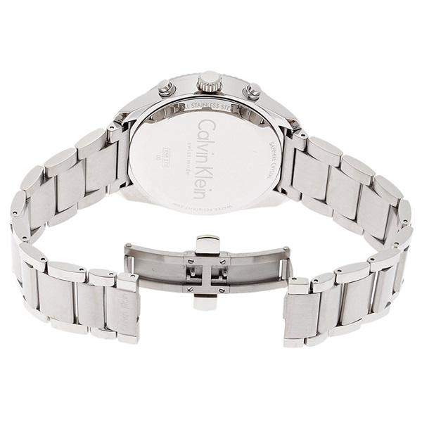 カルバンクライン 時計 メンズ 腕時計 ALLIANCE クロノグラフ シルバー 防水 ステンレスウォッチ K5R37146 ビジネス 男性 ブランド 時計 誕生日 お祝い プレゼント ギフト お洒落