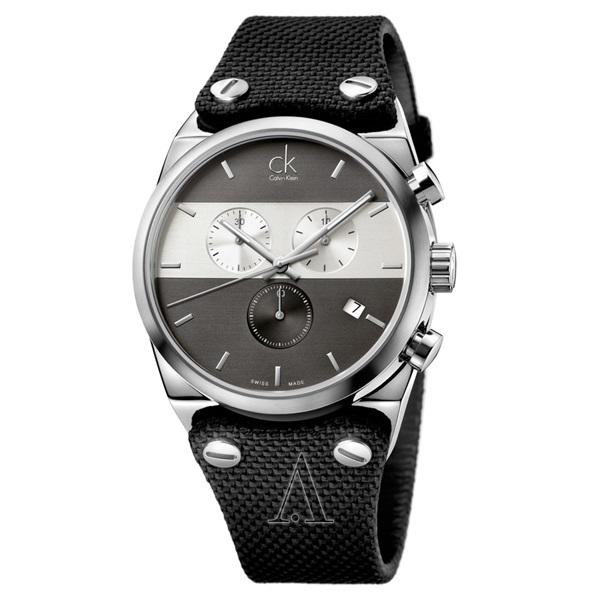 カルバンクライン 時計 メンズ 腕時計 イーガー クロノグラフ 48mm ブラック K4B371B3 ビジネス 男性 ブランド 時計 誕生日 お祝い プレゼント ギフト お洒落