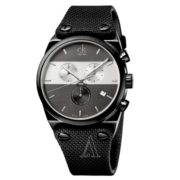 カルバンクライン 時計 メンズ 腕時計 イーガー クロノグラフ 45mm ブラック K4B374B3 ビジネス 男性 ブランド 時計 誕生日 お祝い プレゼント ギフト お洒落