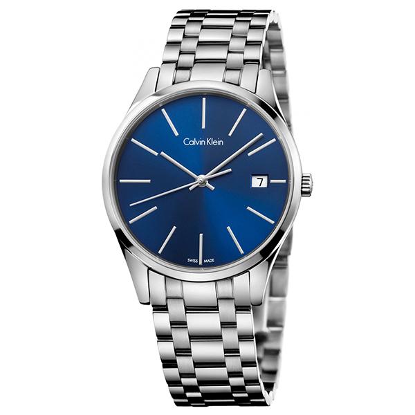 カルバンクライン 時計 レディース 腕時計 TIME タイム ブルー文字盤 シルバー ステンレス K4N2314N ビジネス 女性 ブランド 時計 誕生日 お祝い プレゼント ギフト お洒落