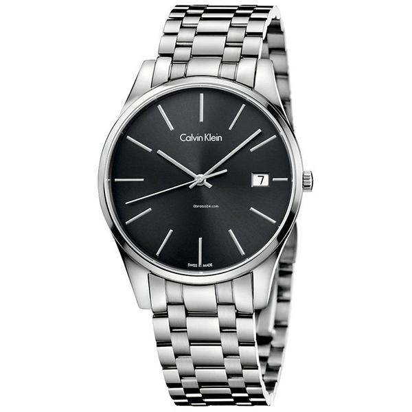 カルバンクライン 時計 メンズ 腕時計 TIME タイム ブラック文字盤 シルバー ステンレス K4N21141 ビジネス 男性 ブランド 時計 誕生日 お祝い プレゼント ギフト お洒落