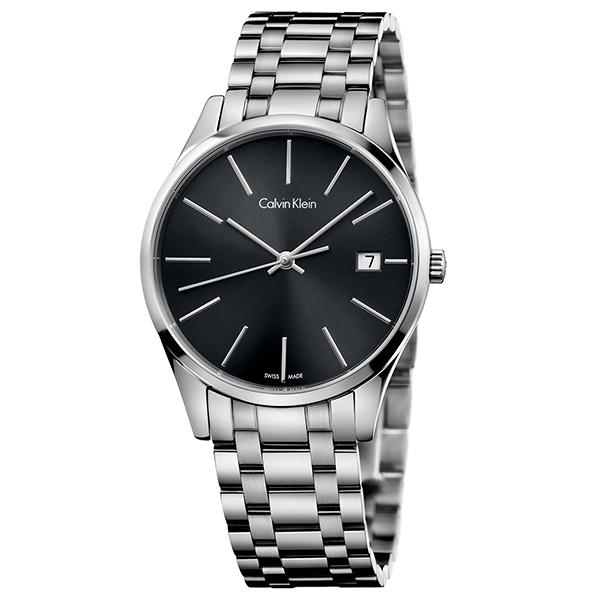 カルバンクライン 時計 レディース 腕時計 TIME タイム ブラック文字盤 シルバー ステンレス K4N23141 ビジネス 女性 ブランド 時計 誕生日 お祝い プレゼント ギフト お洒落