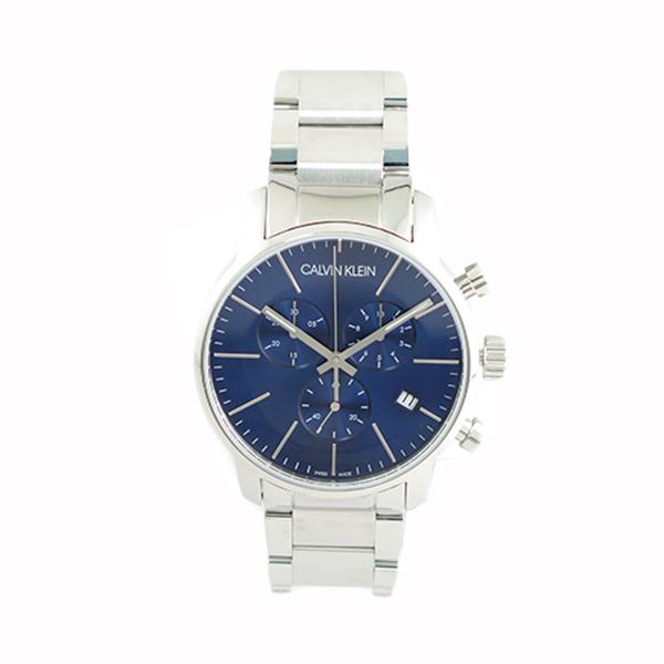 カルバンクライン 時計 メンズ 腕時計 CITY シティ クロノグラフ 43mm ブルー シルバー K2G2714N ビジネス 男性 ブランド 時計 誕生日 お祝い プレゼント ギフト お洒落