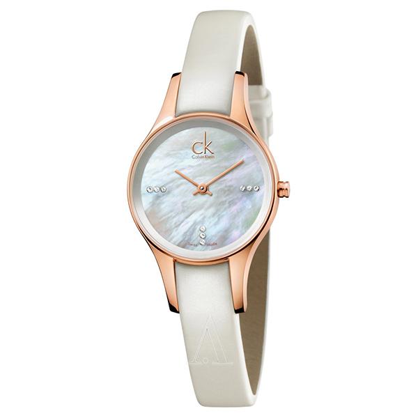 カルバンクライン 時計 レディース 腕時計 SIMPLICITY シンプリシティ 28mm ローズゴールド シェル文字盤 ホワイト レザー K43236LT ビジネス 女性 ブランド 時計 誕生日 お祝い プレゼント ギフト お洒落