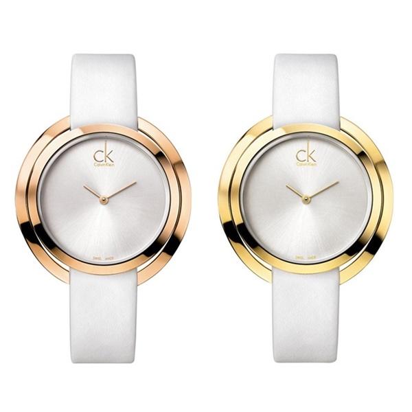 カルバンクライン 時計 レディース 腕時計 アグレゲート 選べる2カラー ローズゴールド イエローゴールド ホワイトレザー 白 K3U235 ビジネス 女性 ブランド 時計 誕生日 お祝い プレゼント ギフト お洒落