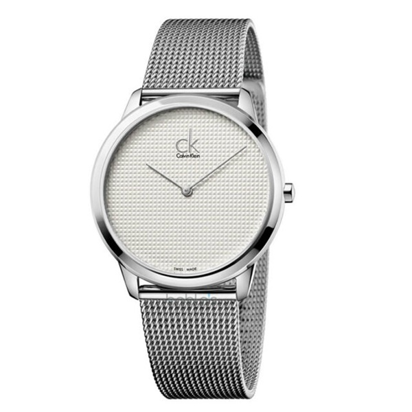 カルバンクライン CK メンズ 腕時計 ミニマル 40ミリ シンプル シルバー メッシュベルト K3M2112Y ビジネス 男性 ブランド 時計 誕生日 お祝い プレゼント ギフト お洒落
