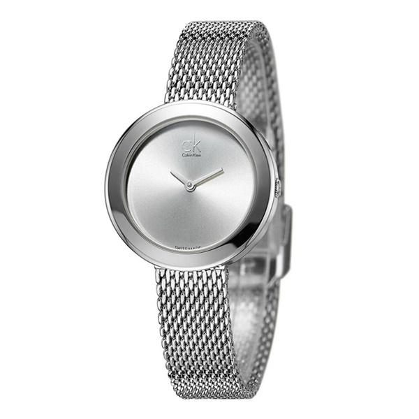 カルバンクライン CK レディース 腕時計 ファーム シンプル 大人 モダン シルバー メッシュベルト K3N23126 ビジネス 女性 ブランド 時計 誕生日 お祝い プレゼント ギフト お洒落