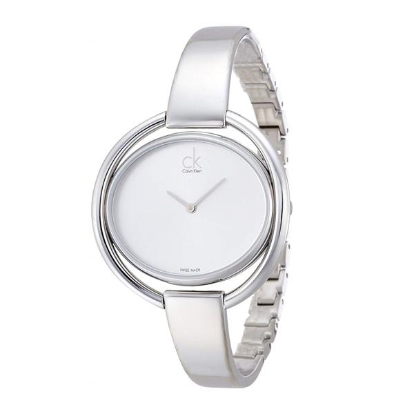 カルバンクライン CK レディース 腕時計 インペチュアス 白文字盤 シルバー お洒落 バングル ブレスレットウォッチ K4F2N116 ビジネス 女性 ブランド 時計 誕生日 お祝い プレゼント ギフト お洒落