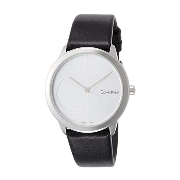 カルバンクライン CK レディース 腕時計 ミニマル シンプル シルバー ブラックレザー 黒 革ベルト K3M221CY ビジネス 女性 ブランド 時計 誕生日 お祝い プレゼント ギフト お洒落