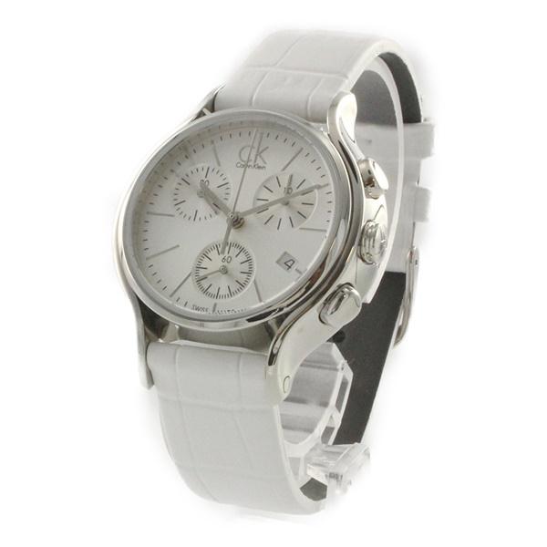 カルバンクライン 時計 レディース 腕時計 SKIRT スカート クロノグラフ ホワイト レザー K2U291L6 ビジネス 女性 ブランド 時計 誕生日 お祝い プレゼント ギフト