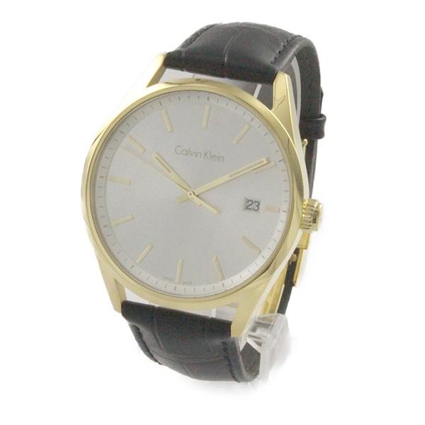 カルバンクライン 時計 メンズ 腕時計 FORMALITY ゴールド シルバー文字盤 ブラックレザー K4M215C6 ビジネス 男性 ブランド 時計 誕生日 お祝い プレゼント ギフト