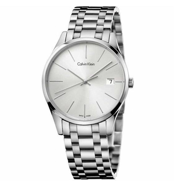 カルバンクライン 時計 メンズ 腕時計 TIME タイム シルバー文字盤 シルバー ステンレス K4N21146 ビジネス 男性 ブランド 時計 誕生日 お祝い プレゼント ギフト お洒落
