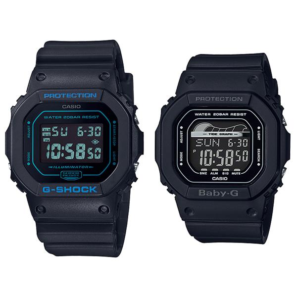 カシオ G-SHOCK×BABY-G ジーショック×ベビージー 腕時計 ペアウォッチ 2本セット デジタル ブラック 海外モデル DW-5600BBM-1BLX-560-1 ブランド 男女 カップル ペアセット 誕生日 お祝い プレゼント ギフト