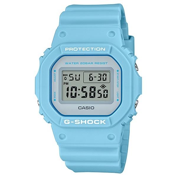 国内正規品 CASIO G-SHOCK Gショック ジーショック カシオ 時計 メンズ レディース 腕時計 ペールトーン ユースカルチャーモデル SPECIAL COLOR ライトブルー DW-5600SC-2JF ビジネス 男性 女性 ブランド 誕生日 お祝い プレゼント ギフト