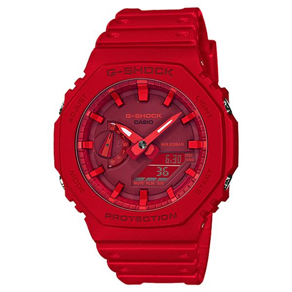 CASIO G-SHOCK Gショック ジーショック カシオ 腕時計 アナデジ デジタル&アナログ 多機能 レッド 海外モデル GA-2100-4A ビジネス 男性 ブランド 誕生日 お祝い プレゼント ギフト