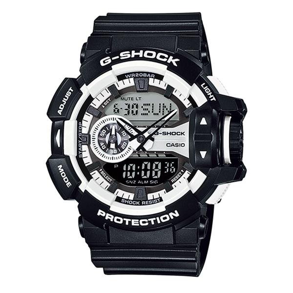 【海外モデル】カシオ G-SHOCK Gショック メンズ 腕時計 ハイパーカラーズ ブラック 大きいケース アナログデジタル 多機能 防水 黒 GA-400-1A ビジネス 男性 ブランド 誕生日 お祝い プレゼント ギフト