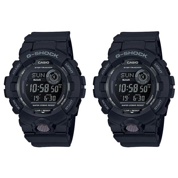 二人でランニングやフィットネス CASIO カシオ G-SHOCK Gショック ジーショック 腕時計 ペアウォッチ 2本セット 歩数計 G-SQUAD デジタル ブラック GBD-800-1BGBD-800-1B ブランド 男女 カップル ペアセット 誕生日 お祝い プレゼント ギフト
