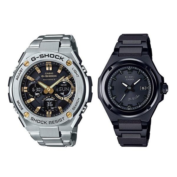 【 ソーラー & 防水 】国内正規品 カシオ 腕時計 ペアウォッチ Gショック ベビーG G-MS ジーミズ シルバー ブラック GST-W110D-1A9JFMSG-W300CB-7AJF ブランド 男女 誕生日 お祝い プレゼント ギフト