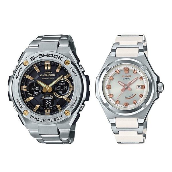 【 ソーラー & 防水 】国内正規品 カシオ 腕時計 ペアウォッチ Gショック ベビーG G-MS ジーミズ シルバー GST-W110D-1A9JFMSG-W300C-7AJF ブランド 男女 誕生日 お祝い プレゼント ギフト