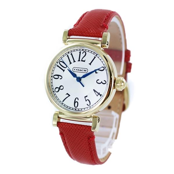 コーチ 時計 レディース 腕時計 MADISON マディソン ゴールドケース レッド レザー 14501729 ビジネス 女性 ブランド 誕生日 お祝い プレゼント ギフト