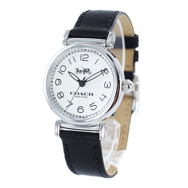 コーチ 時計 レディース 腕時計 MADISON マディソン シルバーケース ブラック レザー 14502860 ビジネス 女性 ブランド 誕生日 お祝い プレゼント ギフト