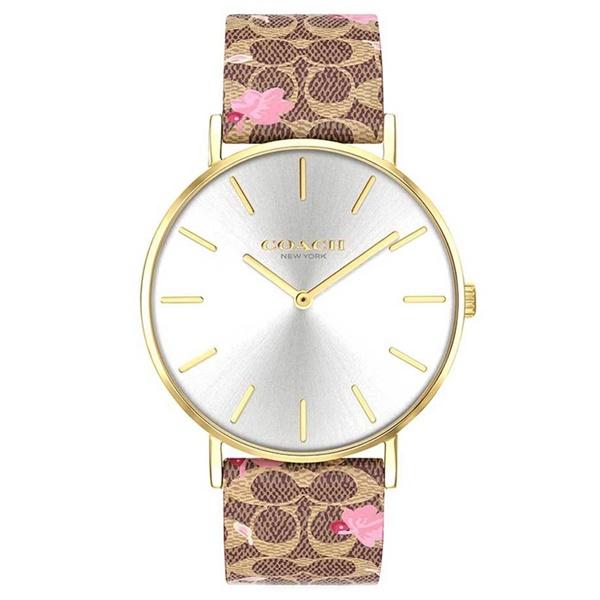 コーチ 時計 レディース ボーイズサイズ 腕時計 ペリー ブラウン シグネチャー レザー 革のベルト 14503443 ビジネス 男性 女性 ブランド 誕生日 お祝い プレゼント ギフト