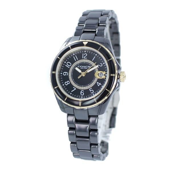 COACH コーチ 時計 レディース 腕時計 プレストン ブラック セラミック ブレスレット こーち 女性用 とけい 14503461 ビジネス 女性 ブランド 誕生日 お祝い プレゼント ギフト