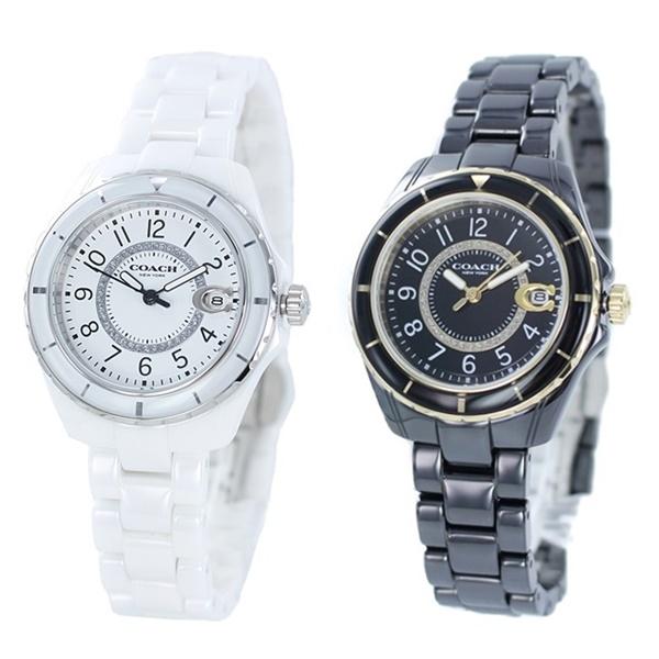 【選べる2カラー】COACH コーチ 時計 レディース 腕時計 プレストン ホワイト ブラック セラミック ブレスレット こーち 女性用 とけい 14503462 14503461 ビジネス 女性 ブランド 誕生日 お祝い プレゼント ギフト