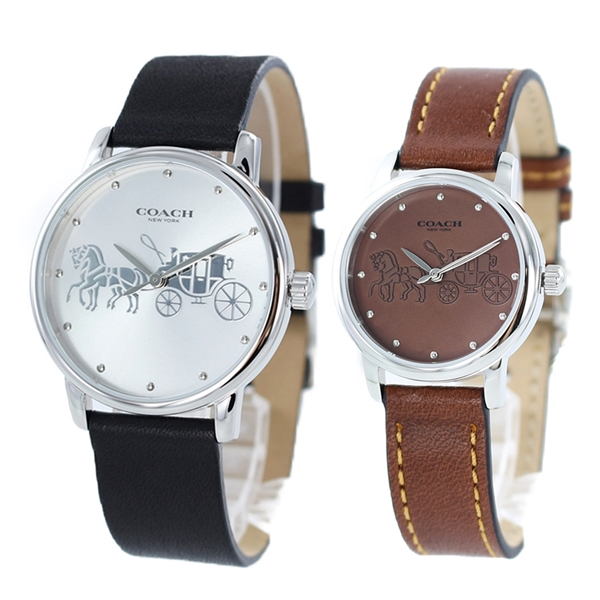 COACH コーチ 腕時計 ペアウォッチ 時計 メンズ レディース 革ベルト ブラック ブラウン 大人 カップル ペアルック 1450349414502978 ブランド 彼氏 彼女 ペアセット 誕生日 お祝 一緒に 毎日使える プレゼント ギフト