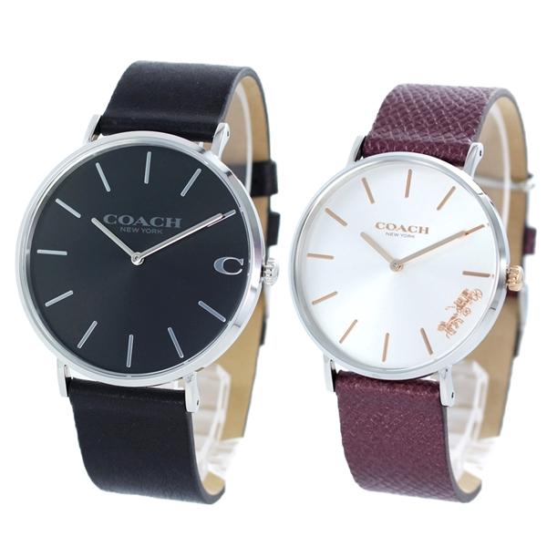 同じブランドが嬉しい コーチ ペアウォッチ 腕時計 2本セット レザー 革 1460214914503154 ブランド カップル お揃い ペアセット 忘れない思い出 誕生日 記念日 お祝い プレゼント ギフト