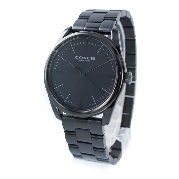 コーチ 時計 メンズ 腕時計 Preston プレストン ブラック ステンレスブレスレット 14602403 ビジネス 男性 ブランド 誕生日 お祝い プレゼント ギフト