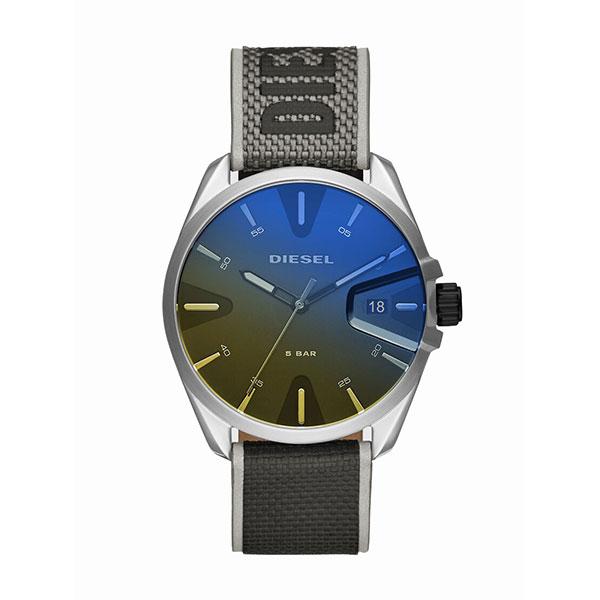 DEISEL ディーゼル 時計 メンズ 腕時計 MS9 エムエスナイン 偏光ガラス グレー ネオンイエロー ナイロン レザー DZ1902 ビジネス 男性 ブランド 誕生日 お祝い プレゼント ギフト