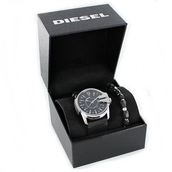 彼氏への誕生日プレゼント DIESEL ディーゼル スペシャル ギフトBOX メンズ 腕時計 ブレスレット ブラック レザー DZ1907 男性 ブランド でぃーぜる お祝い 旦那 男友達 夫 転勤 毎日使えるプレゼント 思い出に残る ギフト