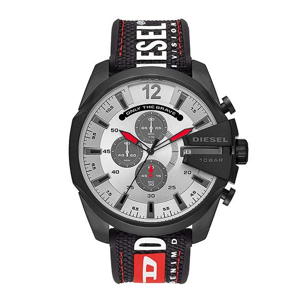 DEISEL ディーゼル 時計 メンズ 腕時計 MEGA CHIEF メガチーフ クロノグラフ 51ミリ ホワイト ブラック ナイロン シリコン DZ4512 ビジネス 男性 ブランド 誕生日 お祝い プレゼント ギフト