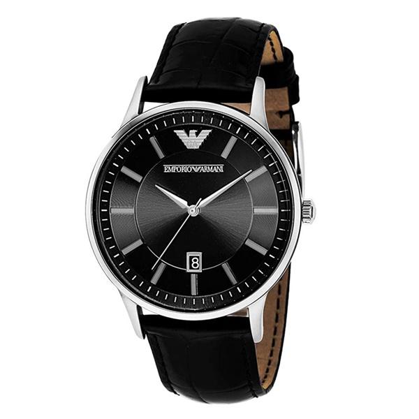有名なブランド 【スーパーSALE】プレゼント 男 30代 40代 50代 60代 エンポリオアルマーニ メンズ 腕時計 カレンダー 日付表示 ブラック 革 ベルト, イセサキシ 451017c8