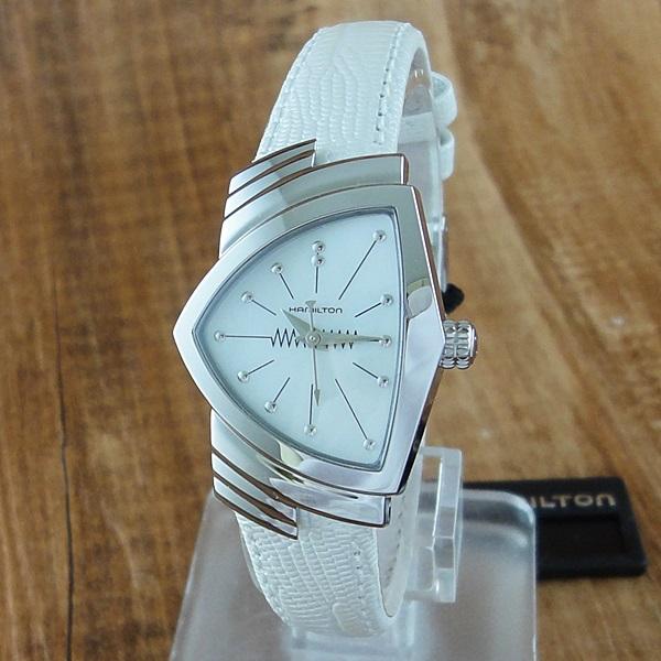 ハミルトン 時計 レディース 腕時計 ベンチュラ ホワイト レザー H24211852 ビジネス 女性 ブランド 誕生日 お祝い プレゼント ギフト お洒落