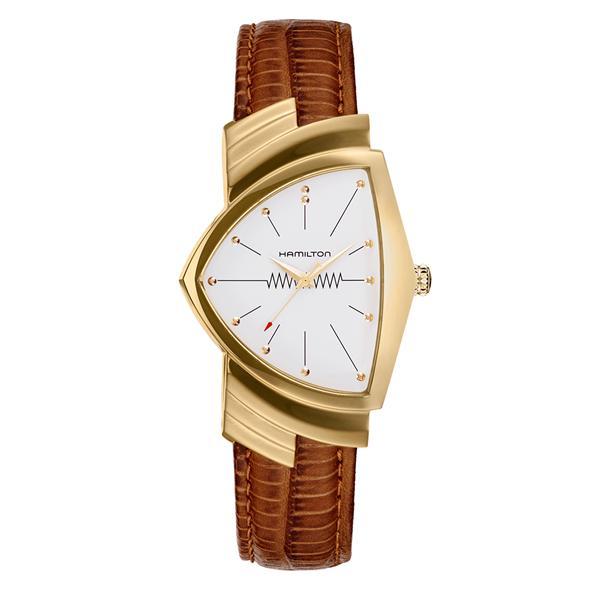 ハミルトン 時計 メンズ 腕時計 ベンチュラ 60周年記念モデル ブラウン クロコレザー H24301511 ビジネス 男性 ブランド 誕生日 お祝い プレゼント ギフト