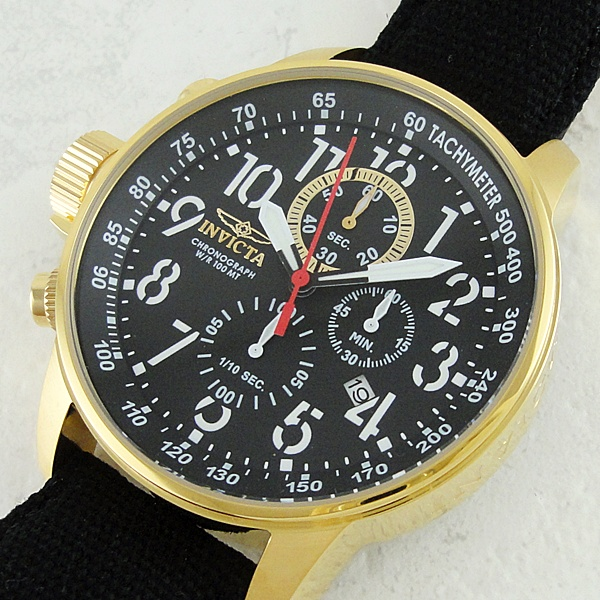 77a133b12d インヴィクタ インビクタ 時計 メンズ 腕時計 フォース レフティ クロノグラフ 10気圧防水 ブラック ゴールド 1515 ビジネス 男性  インヴィクタ インビクタ 時計 ...