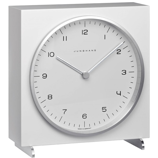 Junghans ユンハンス MAX BILL マックスビル Table Clock 置き時計 木製 ホワイト 363/2210.00 ビジネス 男性 ブランド 時計 誕生日 お祝い クリスマスプレゼント ギフト お洒落