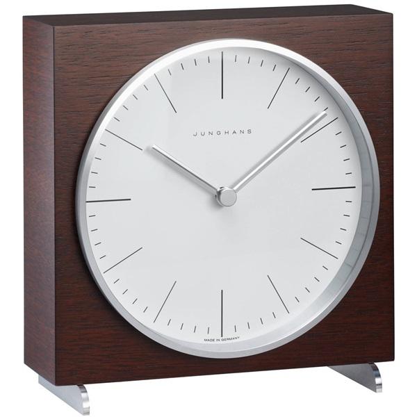 Junghans ユンハンス MAX BILL マックスビル Table Clock 置き時計 木製 ダークブラウン 363/2211.00 ビジネス 男性 ブランド 時計 誕生日 お祝い クリスマスプレゼント ギフト お洒落