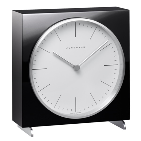 Junghans ユンハンス MAX BILL マックスビル Table Clock 置き時計 木製 ブラック 363/2212.00 ビジネス 男性 ブランド 時計 誕生日 お祝い プレゼント ギフト お洒落