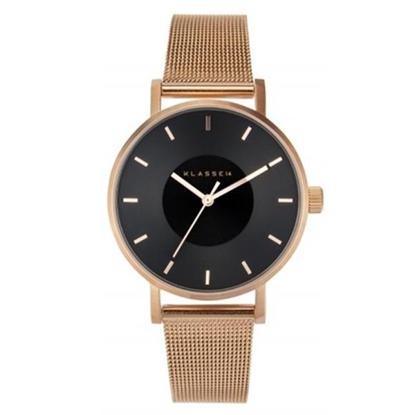 クラス14 時計 メンズ レディース 腕時計 Volare DARK ROSE 36mm ローズゴールド ブラック文字盤 メッシュブレスレット VO16RG006W ビジネス 男性 女性 ユニセックス ブランド 【仕事用】 誕生日 お祝い プレゼント ギフト お洒落