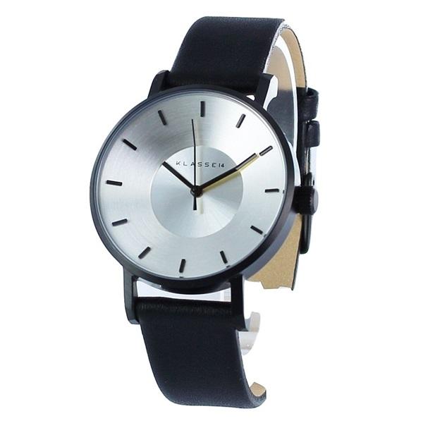 KLASSE14 クラス14 時計 メンズ レディース 腕時計 Volare シルバー ブラック最高級レザー 36mm VO14BK001W ビジネス 男性 ブランド 誕生日 お祝い プレゼント ギフト