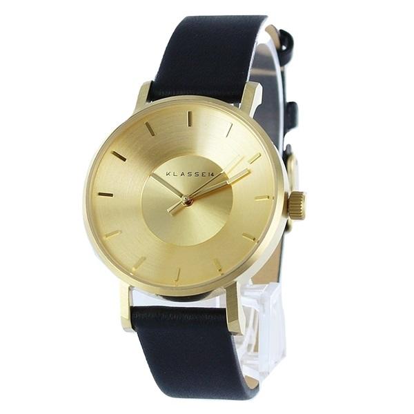 クラス14 時計 メンズ レディース 腕時計 Volare イエローゴールド ブラック 最高級レザー 36mm VO14GD001W ビジネス 男性 女性 ブランド ユニセックス【仕事用】 誕生日 お祝い プレゼント ギフト お洒落