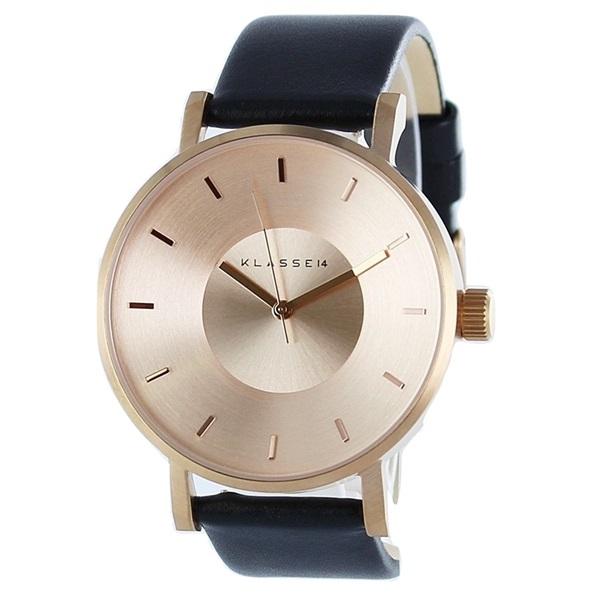 クラス14 時計 メンズ レディース 腕時計 Volare ローズゴールド ブラック 最高級レザー 42mm VO14RG001M ビジネス 男性 女性 ブランド ユニセックス【仕事用】 誕生日 お祝い プレゼント ギフト お洒落