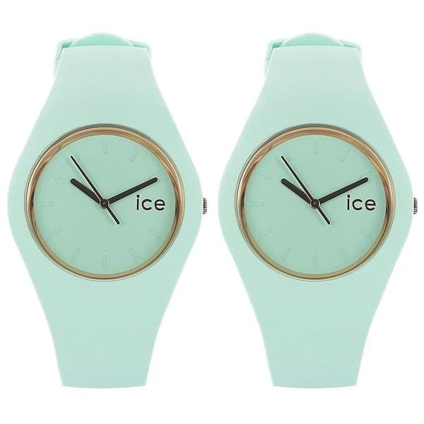 無料プレゼント付!アイスウォッチ 腕時計 ペアウォッチ お揃い メンズ レディース パステル アクア 2本セット ICE.GL.AQ.U.S.14 ブランド 男女 カップル ペアセット 誕生日 お祝い プレゼント ギフト お洒落