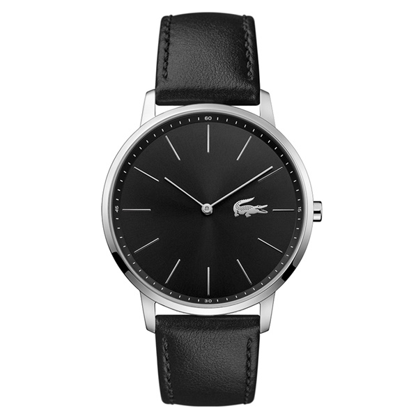【キャッシュレス5%還元】LACOSTE ラコステ 時計 メンズ 腕時計 ブラック レザー 黒 革 シンプル 男性 仕事用 とけい 2011016 ブランド 男性 誕生日 お祝い プレゼント ギフト