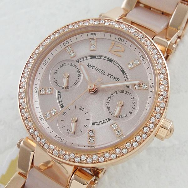 マイケルコース 時計 レディース 腕時計 パーカー ゴールド アセテート MK6110 ビジネス 女性 ブランド 時計 誕生日 お祝い プレゼント ギフト お洒落